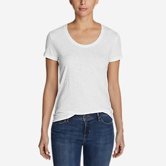 Women's Legend Wash Slub Short-Sleeve Scoop-Neck T-Shirt in White