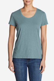Women's Legend Wash Slub Short-Sleeve Scoop-Neck T-Shirt in Blue