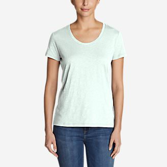 Women's Legend Wash Slub Short-Sleeve Scoop-Neck T-Shirt in Green