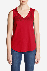 Women's Deer Harbor Tank Top in Red