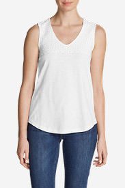 Women's Deer Harbor Tank Top in White