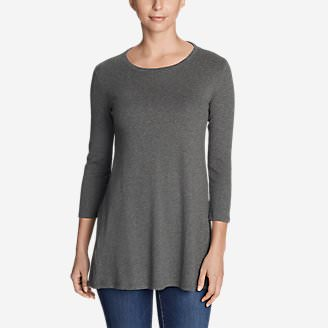 Women's Favorite 3/4-Sleeve Tunic T-Shirt in Gray