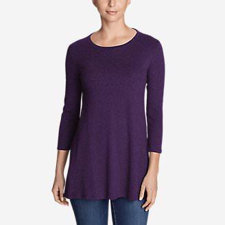 Women's Favorite 3/4-Sleeve Tunic T-Shirt in Purple