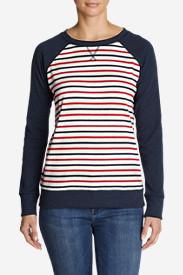 Women's Legend Wash Crew Sweatshirt - Stripe Block in Blue