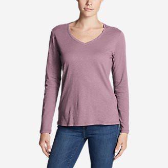 Women's Legend Wash Slub Long-Sleeve V-Neck in Purple