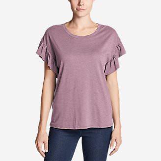 Women's Willow Short-Sleeve Ruffle Top in Purple