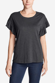 Women's Willow Short-Sleeve Ruffle Top in Gray