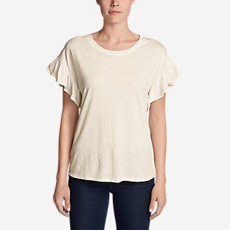 Women's Willow Short-Sleeve Ruffle Top in White