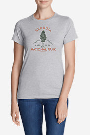 Women's Graphic T-Shirt - 1890 Sequoia in Gray