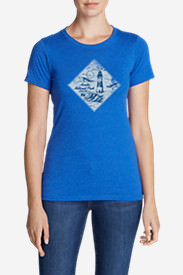 Women's Graphic T-Shirt - Acadia National Park in Blue