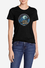 Women's Graphic T-Shirt - Desert Dreamin' in Black
