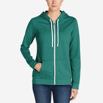 Women's Camp Fleece Full-Zip Hoodie in Green