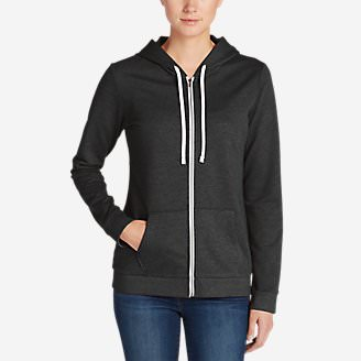 Women's Camp Fleece Full-Zip Hoodie in Gray