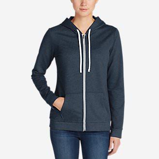 Women's Camp Fleece Full-Zip Hoodie in Blue