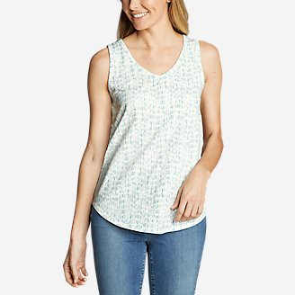 Women's Ravenna Tank Top - Print in White