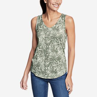 Women's Ravenna Tank Top - Print in Green