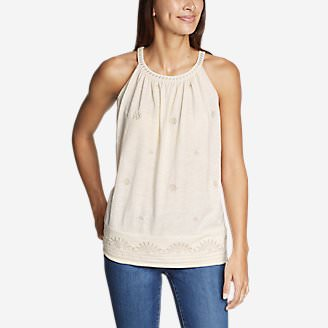 Women's Mountain Meadow Embroidered Cami in White