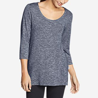 Women's Enatai 3/4-Sleeve Tunic in Blue