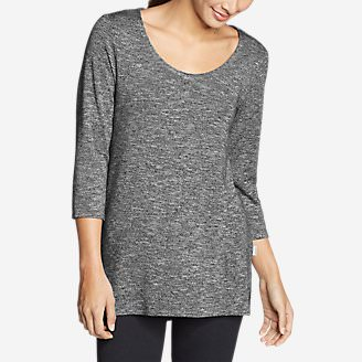 Women's Enatai 3/4-Sleeve Tunic in Black