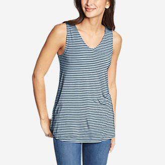 Women's Celestial Tank - Stripe in Blue
