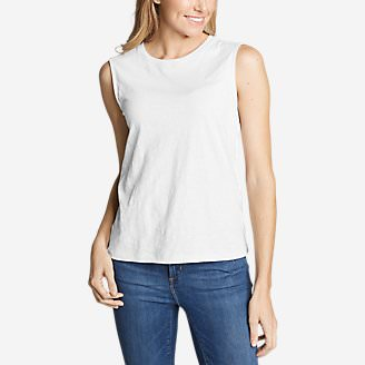 Women's Legend Wash Slub Tank Top in White