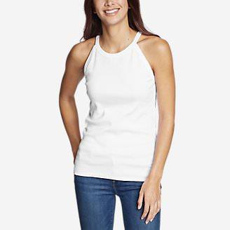 Women's Favorite Sleeveless Halter Top - Solid in White