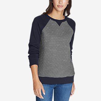 Women's Legend Wash Quilt Block Sweatshirt in Blue