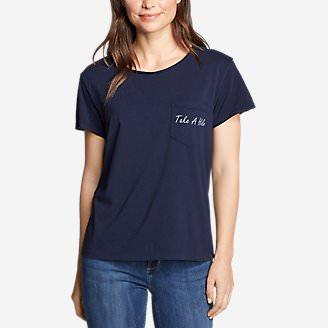Women's Gypsum Short-Sleeve Pocket T-Shirt - Graphic in Blue
