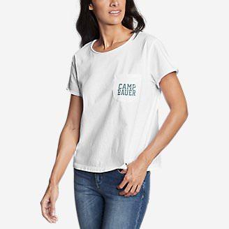 Women's Gypsum Short-Sleeve Pocket T-Shirt - Graphic in White