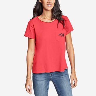 Women's Gypsum Short-Sleeve Pocket T-Shirt - Graphic in Red