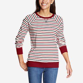 Women's Legend Wash Crew Sweatshirt - Americana Stripe in Blue