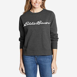 Women's Camp Fleece Logo Crewneck Sweatshirt - Easy in Gray