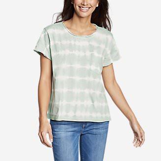 Women's Gypsum Short-Sleeve Pocket T-Shirt - Tie Dye in Green