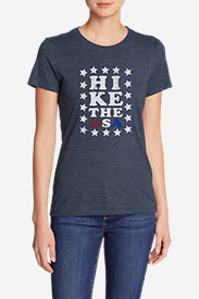 Women's Triblend Crew T-Shirt - Hike The USA in Blue