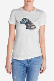 Women's Triblend Crew T-Shirt - Flagrador Retriever in Gray