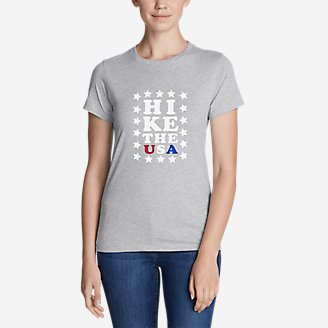 Women's Graphic T-Shirt - Hike The USA in Gray