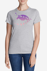Women's Graphic T-Shirt - Flying Geese in Gray