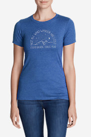 Women's Graphic T-Shirt - Wanderers in Blue