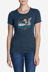 Women's Graphic T-Shirt - Mount Rainier in Blue