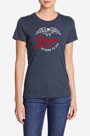 Women's Graphic T-Shirt - Ombré Succulents in Blue