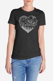 Women's Graphic T-Shirt - Mountain Heart in Gray