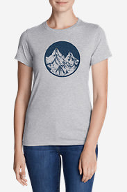 Women's Graphic T-Shirt - Camp Under The Stars in Gray