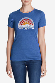 Women's Graphic T-Shirt - Mt. St. Helens in Blue