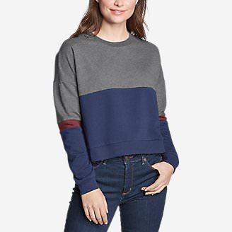 Women's Colorblocked Sweatshirt in Gray