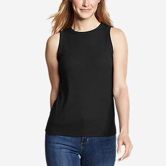 Women's Ribbed Tank Top - Solid in Black