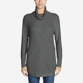 Women's Christine Thermal Tunic Sweater in Gray