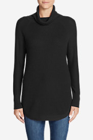 Women's Christine Thermal Tunic Sweater in Black