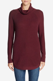 Women's Christine Thermal Tunic Sweater in Red