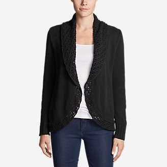 Women's Peakaboo Shorter Cardigan in Black