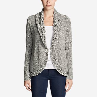 Women's Peakaboo Shorter Cardigan in Gray